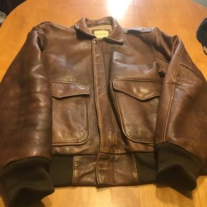 Vintage leather bomber jacket good condition.